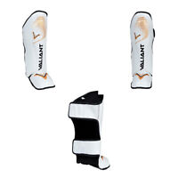 SHIN GUARD INSTEP PADS MMA FOOT SUPPORT LEG-KICK PROTECTOR MUAY THAI MMA KICKBOX