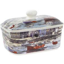 Le vieux port de Chine Fine Céramique Beurrier avec cloche couvercle au lave-vaisselle