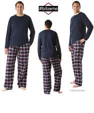 Men's 2-piece Cotton Blend Flannel Pajama Set,With 2 Pockets,XL,Plaid