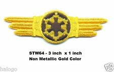STAR WARS PILOT GOLD WINGS PATCH - STW64