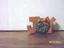 Hallmark Cards Christmas Holiday Joy With Wreath Pin