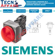 Indicatore Luminoso Blu 1Portalampada Diametro 22mm Siemens 3SB3604-6AA50