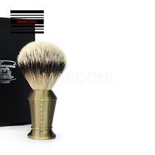 Pure Badger ARGENTO punta a pennello da barba pennello da barba EXTRA LARGE BUFFALO HORN HANDLE