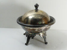 ANTIQUE MERIDEN B. CO BUTTER DISH BOWL WITH LID SILVER PLATE