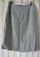 Anthea Crawford Skirt Size 12 Medium Black White Silk