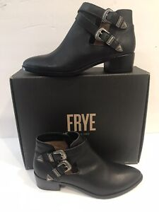 FRYE Ray Western Shootie Women's Black Smooth 77099  Size 9M US