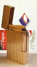 ST DuPont Lighter Gold Line 2 Fully Functional Serviced Warranty Good Condit H83