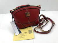Dooney & Bourke RED Beacon Mini Domed Crossbody Shoulder Leather Purse NWT