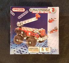 Meccano Erector Rescue: Fire Truck  87 Parts 3 Models 6024804 New Sealed