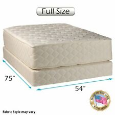 """Highlight Luxury Firm Full Mattress & Low 5"""" Box Spring Set with Mattress Cover"""