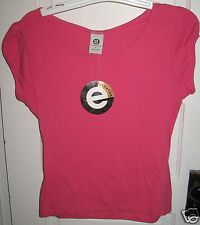 Ellemenno Pink Berry Cozy Tee Shirt Top Size S Small