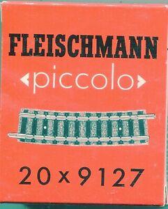 "20 x FLEISCHMANN 9127   Curved track  R2  ""BOXED""    N Gauge (F884)"