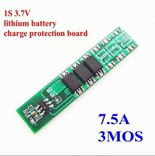 1S 3.7V 3MOS 7.5A 18650 Lithium Battery Charge Protection Board Parallel Spot We