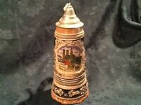 Musical German Beer Stein - MAPSA Swiss Movement With Lid