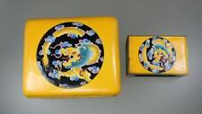 Antique Chinese Republic Yellow Cloisonne Enamel Dragon Cigarette Match Box