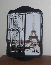 "/""Paris Bateaux Mouches/"" Eiffel Tower /& Boat on the River Seine Design Tray"