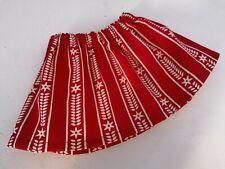 BJB Vintage Sasha dolls clothes, Pretty red and cream scandi pattern skirt