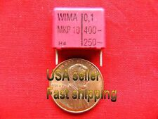 12 pcs  -  .1uf  (0.1uf)  400v  metalized film poly capacitors (rd)