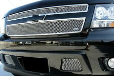 GrillCraft SW-Series Chrome Upper & Lower Mesh Grille for Chevy Tahoe Suburban