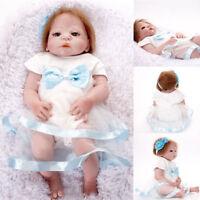 23''Lifelike bebe Reborn Baby Girl Doll Full Body Vinyl Silicone Handmade Baby💛