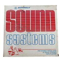MOTOROLA NEW 8 Track/FM Car Stereo Vintage, NOS
