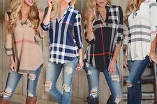 Fashion Women Loose T shirt Blouse Lady Casual Long Sleeve Tops Shirt Plus size