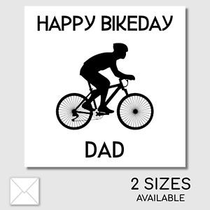 Personalised Happy Birthday Bikeday Card Hybrid Mountain Bicycle Road Bike