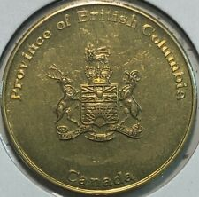 PROVINCE OF BRITISH COLUMBIA, CANADA ~ BRASS TOKEN ~ SCARCE ~ XF45 Condition