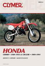 HONDA CR80R 1989-1995 & CR125R 1989-1991 Clymer WORKSHOP MANUAL m431-2 NUOVO