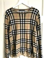 RARE Old Vintage Original Burberry Cotton Top Jumper Sweater Made in Italy