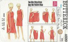 "1960s Vintage Sewing Pattern B34""- 36"" WRAP DRESS MEDIUM (1448)"