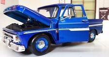 Chevrolet C-10 Fleetside pick-up 1966 beis coche a escala 1 24 / Motormax