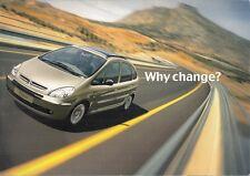 Citroen Xsara Picasso 2004 UK Market Foldout Sales Brochure LX Desire Exclusive