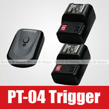 PT-04Wireless Remote Flash Trigger Transmitter 2 Receiver for Canon 600EX 580EX