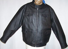 Sa Mode Men's Leather Jacket  Sz: Large 1008