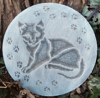 Plastic Cat Kitten plaque mold garden ornament decorative stepping stone mould