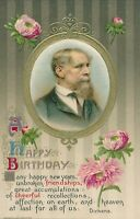 BIRTHDAY – Dickens Quote and Portrait Birthday Greetings Winsch Postcard