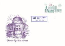 East Germany 1987 Bodem Museum 30pfg Air Mail Prepaid Postcard Fdc Unused Vgc