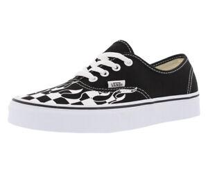 Vans Men's Authentic Checkered Flame Fashion Shoe Black/True White VN0A38EMRX8