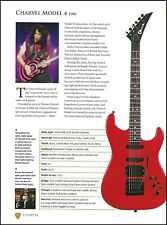 Eddie Ojeda Charvel Model 4 + Tony Levin Chapman stick guitar article with specs