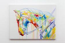 Horse Head Watercolour Acrylic Original Contemporary Wood Canvas Artwork 10563