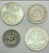 PORTUGAL 4er LOT  5 ESCUDOS  -  50 ESUDOS 1933 - 1971, ss und besser