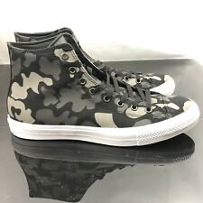Converse Chuck Taylor II Camo High Top Shoes Black Grey Men's Sz 9