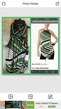 Halter Top Green Gorgeous Medley Petit Large ALFANI Collection Macy's Carrier