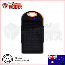 GMH 8000mAh Portable Solar Panel Dual USB External Battery Charger - Orange