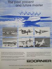3/80 PUB DORNIER HYDRAVION DO X SKYSERVANT DO 31 VTOL DO 24 AIRCRAFT FLUGZEUG AD