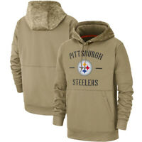 NFL Pittsburgh Steelers Football Hoodie 2019 Salute to Service Sideline Pullover