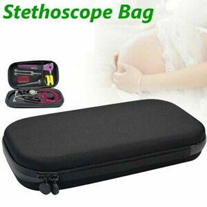 Carry Travel Medical Organizer Stethoscope Hard Storage Box Case Bag Black