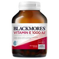 Blackmores Vitamin E 1000IU 100 Capsules Natural E Heart Health Antioxidant