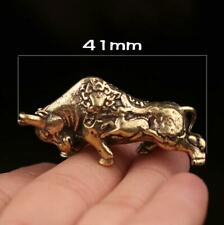 Chinese Old Antique Collectible Brass cattle Pendant hand piece statue Gift